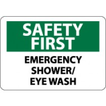 Safety First Emergency Shower/Eyewash Sign (#SF45)