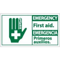 Emergency First Aid Spanish Sign (#SFA1)