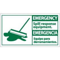 Emergency Spill Response Equipment Spanish Sign (#SFA2)