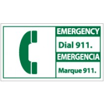 Emergency Dial 911 Spanish Sign (#SFA3)