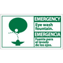 Emergency Eye Wash Fountain Spanish Sign (#SFA5)