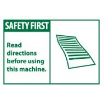 Safety First Read directions before using this machine. Machine Label (#SGA10AP)