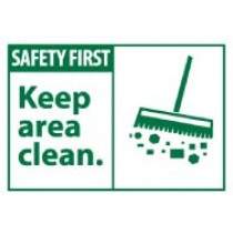 Safety First Keep area clean. Machine Label (#SGA2AP)