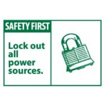 Safety First Lock out all power sources. Machine Label (#SGA3AP)