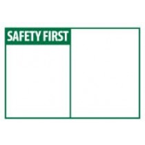 Safety First Machine Label (blank) (#SGA4AP)