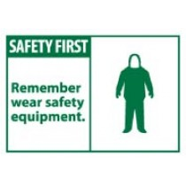 Safety First Remember wear safety equipment. Machine Label (#SGA7AP)