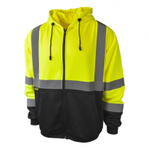Class 3 Color Blocked Hooded Sweatshirt, green (#SJ01B-3ZGS)