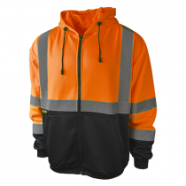 Class 3 Color Blocked Hooded Sweatshirt, orange (#SJ01B-3ZOS)