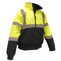 Radians Class 3 Two-In-One Hi-Viz Bomber safety Jacket, Green (#SJ110B-3ZGS)