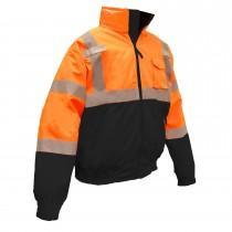 Radians Class 3 Two-In-One Hi-Viz Bomber safety Jacket, Orange (#SJ110B-3ZOS)