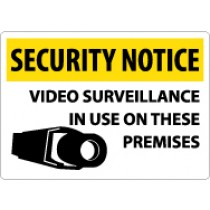 Security Notice Video Surveillance In Use On These Premises Sign (#SN20)
