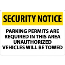 Security Notice Parking Permits Are Required In This Area… Sign (#SN24)