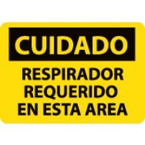 Cuidado Respirador Requerido Rn Esta Area Sign (#SPC365)