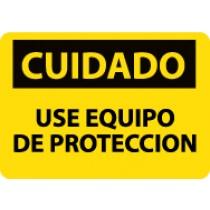 Cuidado Use Equipo De Proteccion Sign (#SPC369)