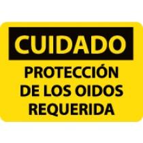 Cuidado Proteccion De Los Oidos Requerida Sign (#SPC513)