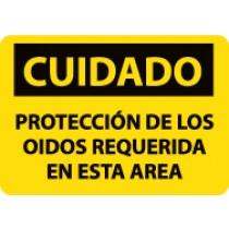 Cuidado Proteccion De Los Oidos Requerida En Esta Area Sign (#SPC73)