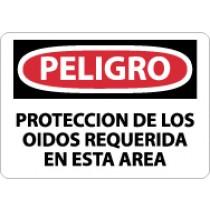 Peligro Proteccion De Los Oidos Requerida En Esta Area Sign (#SPD134)