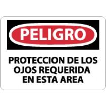 Peligro Proteccion De Los Ojos Requerida En Esta Area Sign (#SPD201)