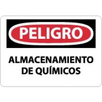 Peligro Almacenamiento De Quimicos Sign (#SPD239)