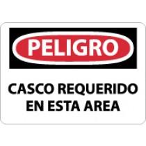 Peligro Casco Requerido En Esta Area Sign (#SPD46)