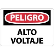 Peligro Alto Voltaje Sign (#SPD49)