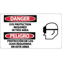 Danger Eye Protection Required In This Area Spanish Sign (#SPSA102)