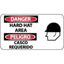 Danger Hard Hat Area Spanish Sign (#SPSA104)