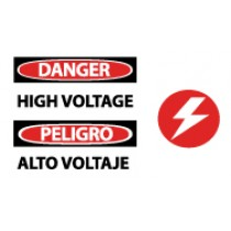 Danger High Voltage Spanish Sign (#SPSA105)