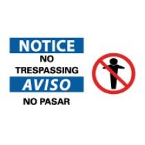 Notice No Trespassing Spanish Sign (#SPSA112)