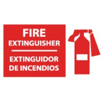Fire Extinguisher Spanish Sign (#SPSA121)