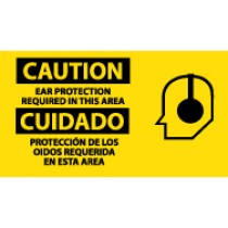 Caution Ear Protection Required In This Area Spanish Sign (#SPSA123)