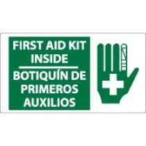 First Aid Kit Inside Spanish Sign (#SPSA172)