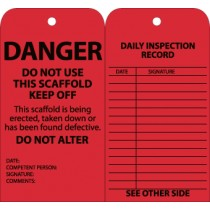 Danger Do Not Use This Scaffold Keep Off Tag (#SPT1)