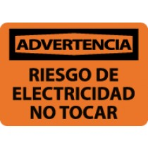 Advertencia Riesgo De Electricidad No Tocar Sign (#SPW500)