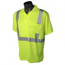 Class 2 Hi-Viz Safety Short Sleeve Polo, green (#ST12-2PGS)
