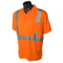 Class 2 Hi-Viz Safety Short Sleeve Polo, orange (#ST12-2POS)