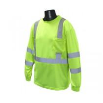 Long Sleeve Class 3 T-Shirt, Hi-Viz Green (#ST21-3PGS)