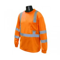 Long Sleeve Class 3 T-Shirt, Hi-Viz Orange (#ST21-3POS)