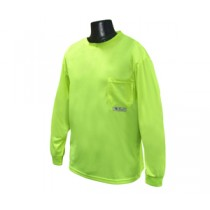 Long Sleeve Non-Rated T-Shirt, Hi-Viz Green (#ST21-NPGS)