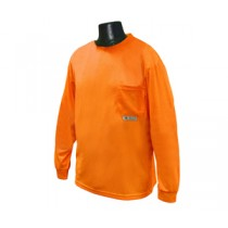 Long Sleeve Non-Rated T-Shirt, Hi-Viz Orange (#ST21-NPOS)