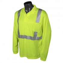 Class 2 Hi-Viz Safety Long Sleeve Polo, green (#ST22-2PGS)