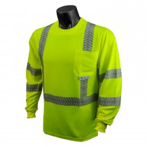 Class 3 Hi-Viz Safety T-Shirt With Rad-Shade® UV Protection, Green (#ST24-3PGS)
