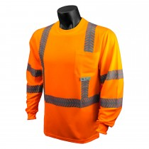 Class 3 Hi-Viz Safety T-Shirt With Rad-Shade® UV Protection, Orange (#ST24-3POS)