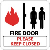Fire Door Please Keep Closed Sign (#SV139)