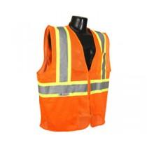 Economy Type R Class 2 Vest with Two-Tone Trim, Hi-Viz Orange (#SV22-2ZOM)