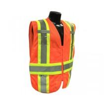 Type R Class 2 Expandable Two Tone Vest, Hi-Viz Orange (#SV23-2ZOM)