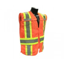 Type R Class 2 Breakaway Expandable Two Tone Vest, Hi-Viz Orange (#SV24-2ZOM)