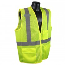 Class 2 Multipurpose Surveyor Green Safety Vest (#SV27-2ZGM)