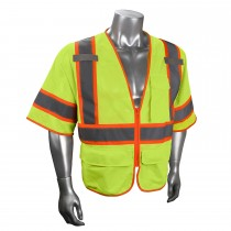 Type R Class 3 Multipurpose Surveyor Vest, Hi-Viz Green (#SV272-3ZGM)