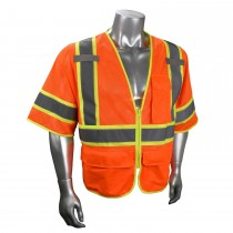Type R Class 3 Multipurpose Surveyor Vest, Hi-Viz Orange (#SV272-3ZOM)